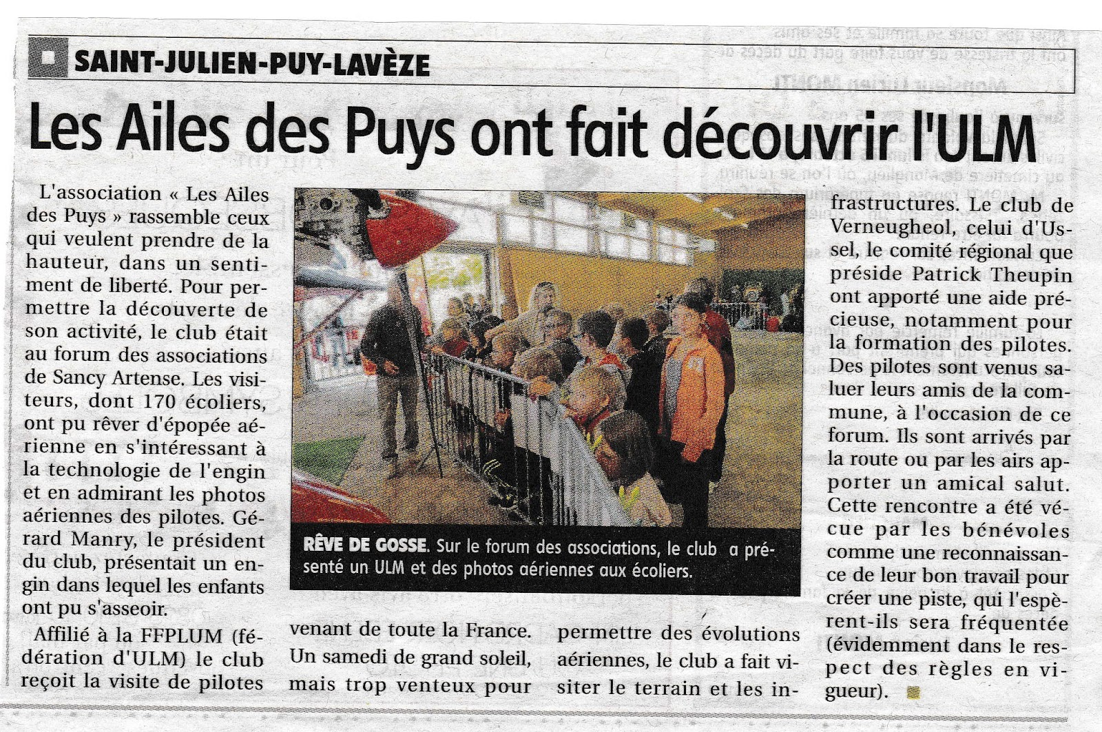 FORUM DES ASSOCIATIONS DE SANCY-ARTENSE